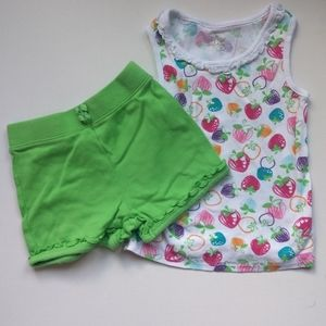 Strawberry Summer Tank and Shorts * 18-24M